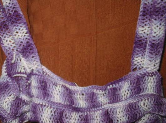 Hairpin Lace Crochet cover-up by Skein Train