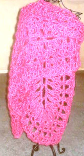 Skein Train Hand Crocheted Prom Shawl